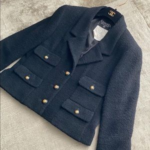 Chanel jacket vintage classic black 4 pocket